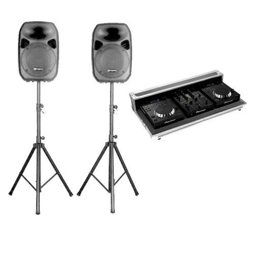 Set impianto Audio DJ per feste private