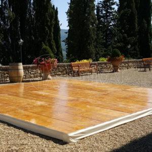 pedana legno pista da ballo mt 6X8 per eventi