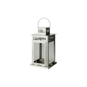Lanterna 15x15 h 28 bianca
