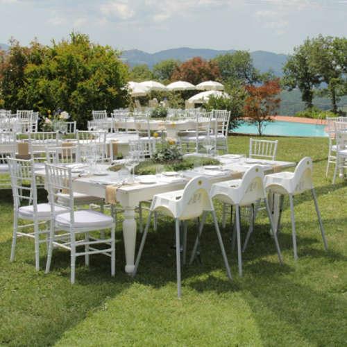 Tavolo SHABBY 215x135 massello di colore bianco