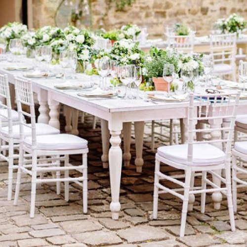 Tavolo SHABBY 152x76 massello colore bianco