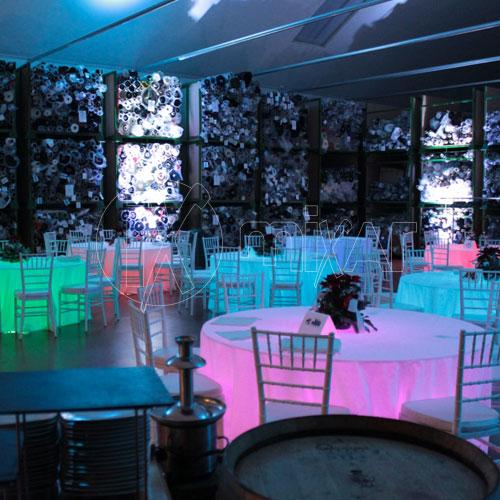Tavolo d170 Plexiglas luminoso