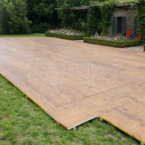 Pavimento pedana legno per cerimonie matrimoni ed eventi