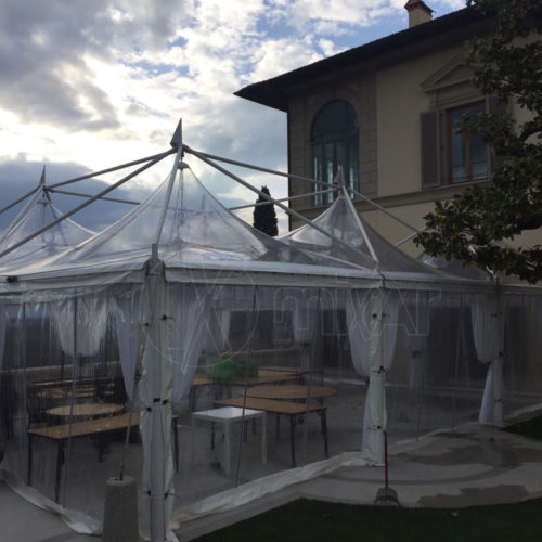 Pagoda Cristal 6X6 per matrimoni e feste private
