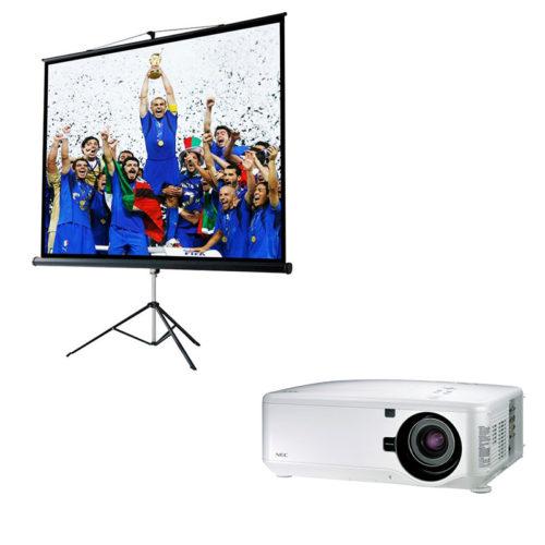 Kit Videoproiezione Schermo treppiedi 213x213 e Videoproiettore 5000AL