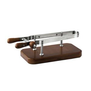 Fermaprosciutto Inox con base legno