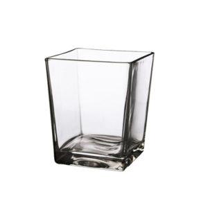 Vaso Quadro 14x14 cm vetro