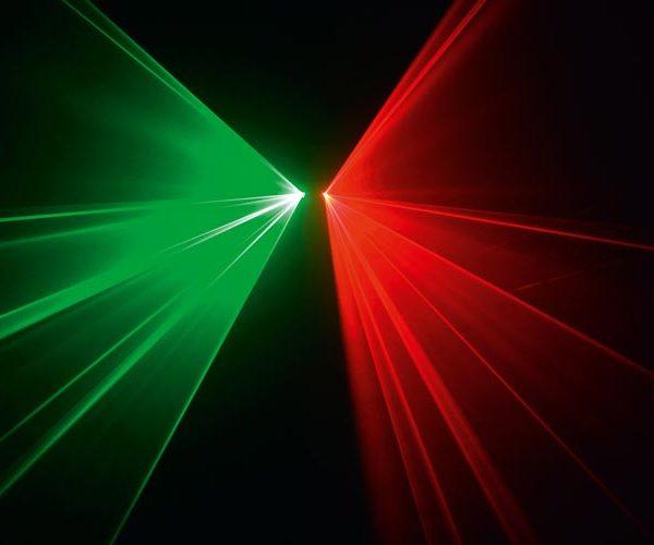 Effetto Laser Rosso Verde