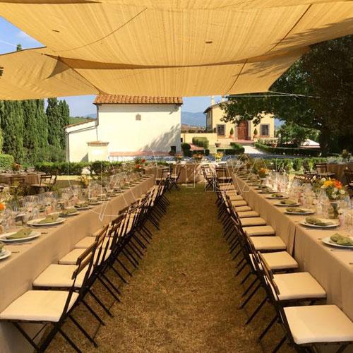 Vele ombreggianti per matrimoni ed eventi Toscana