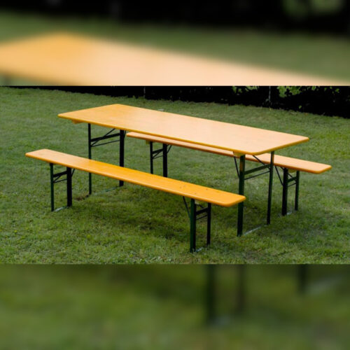 set di panche e tavolo da birreria