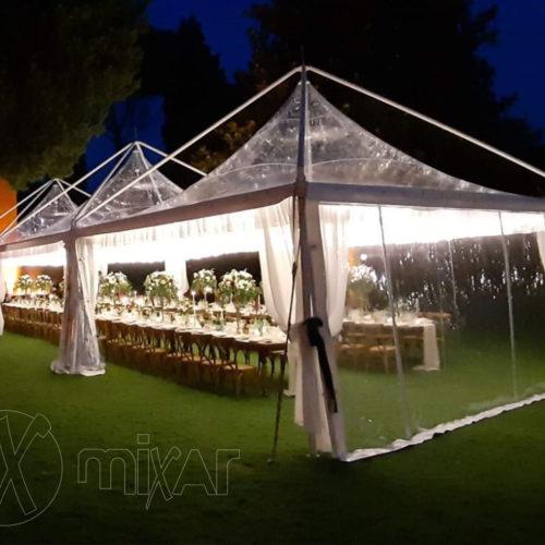 Pagoda Cristal 10X10 per matrimoni e feste private